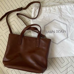 Fawn design mini tote - Walnut